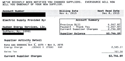 How to read your electic bill supply